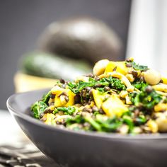 Lentils and kale, worth trying, it seems.