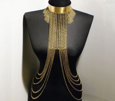 christmas gifts  gold body chain body jewelry chain by BeyhanAkman, $90.00