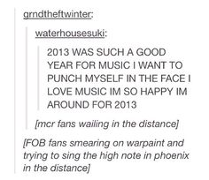 Hahaha the thing about The Phoenix is so true!!! It's one of my absolute favorite songs