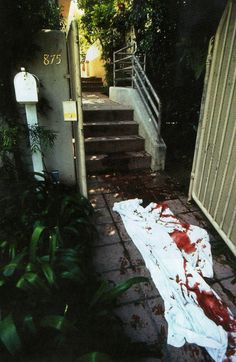 Exclusive collection of extremely graphic historical photos, revisiting the murder scene of Nicole Brown Simpson and Ron Goldman. Oj Simpson, Ronald Goldman, Famous Murders, Evil People, Scene Photo, Serial Killers, Look At You, Mug Shots, Fotografia