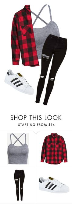 """Casual"" by myhrer714 ❤ liked on Polyvore featuring Topshop and adidas"