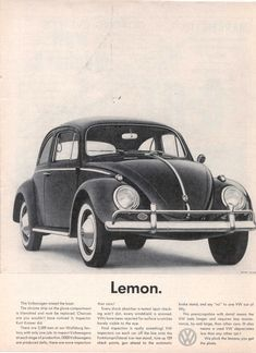 Good copywriting excites me. I thought I'd research this properly, having seen it on Mad Men. The words leap off the page. You're unaware of the author's intention, until about halfway through. By then, all of VW's brand values are instilled. You're impressed, engaged. Despite the fact it's 50 years old, you want one. This is writing for the ages. Respect.