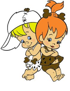 Photo of Pebbles Flintstone and Bamm Bamm Rubble for fans of The Flintstones 5539681 Classic Cartoon Characters, Classic Cartoons, Bamm Bamm Rubble, Pebbles And Bam Bam, Pebbles Flintstone, Old School Cartoons, The Jetsons, O Pokemon, Personalized Stickers