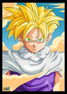 Super Saiyan Gohan from the Dragon Ball Z anime Manga Dbz, Manga Dragon, Dragon Ball Z, Akira, Foto Do Goku, Art Anime, Fan Art, Super Saiyan, Android 18