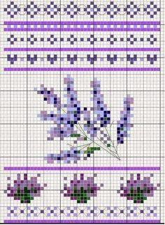 Punto croce - Schemi Gratis e Tutorial: Schemi a punto croce- fiori primaverili di mille colori