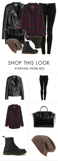 """Style #11087"" by vany-alvarado ❤ liked on Polyvore featuring H&M, Topshop, Rails, Givenchy and Dr. Martens"