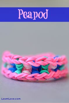 Learn how to make a Rainbow Loom Peapod Bracelet. You can wear this bracelet on either side.