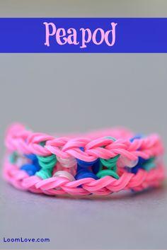 How to Make a Rainbow Loom Peapod Bracelet