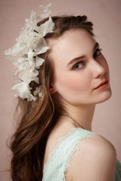Shop our 2017 selection of elegant hair accessories at BHLDN. Explore our collection of bohemian hair accessories, in new and vintage-inspired styles. Bohemian Hair Accessories, Wedding Hair Accessories, Bohemian Hairstyles, Wedding Hairstyles, Winter Hairstyles, Hair Jewelry, Bridal Jewelry, Bohemian Wedding Hair, Elegant Bride