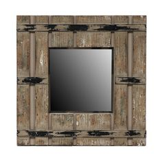 Reclaimed Mirror, $67, 18x18.   Wayfair.com