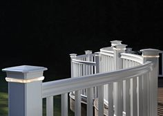 Deck Lights Under Rail Post Cap www.radiancerail.com
