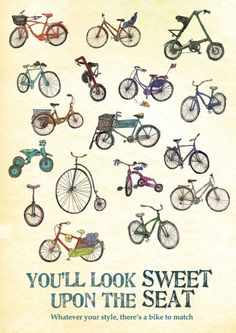 There is a bike to match every style so anyone can ride!!