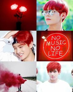 Taehyung red aesthetic