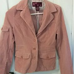 Pink Cord Roxy Blazer Jacket size Small Great condition pink cord blazer by Roxy size small.  If you're worried about fit, feel free to ask for measurements but please don't leave me neutral/negative feedback if the item doesn't fit! =) No defects. Roxy Jackets & Coats Blazers