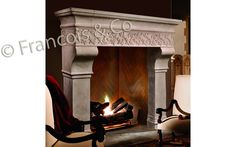 Chenet_MT105_LS1.jpg (1448×905) The Chenet The Chenet is a elegant mantel piece that embodies a strength and refinement. The lintel features a beautifully executed Acorn and leaf frieze.      Overall height:65'' Opening width:46 3/4'' Opening height:47'' Overall Width:76 1/2''