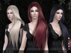 The Sims Resource: Eden hairstyle by Stealthic • Sims 4 Downloads
