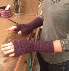 Ravelry: charlenerms' Tatras Fingerless Mitts - knit with Blue Sky Alpacas EXTRA yarn
