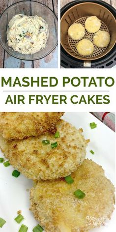 Fryer Mashed Potato Cakes - Air Fryer Mashed Potato Cakes – such a delicious side dish quick in the Air Fryer. -Air Fryer Mashed Potato Cakes - Air Fryer Mashed Potato Cakes – such a delicious side dish quick in the Air Fryer. Air Fryer Recipes Snacks, Air Frier Recipes, Air Fryer Dinner Recipes, Air Fryer Recipes Potatoes, Power Air Fryer Recipes, Air Fryer Recipes Vegetables, Air Fryer Recipes Gluten Free, Air Fry Potatoes, Air Fryer Baked Potato