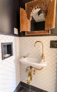 space saving sink brass fixture