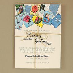 Maria Suite - Mexican Loteria Wedding Invitation - Customizable Wedding Invitation - Sample Set on Etsy, $4.50