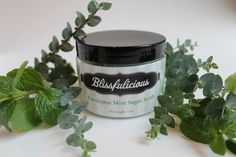 Nothing's better than a steamy shower with our Eucalyptus Mint Sugar Scrub to clear your sinuses and your head - this is definitely one to have on hand during the winter months! Eucalyptus has been known to ease the muscle aches as well. So go ahead - treat your nasal congestion while having smooth glowing skin!