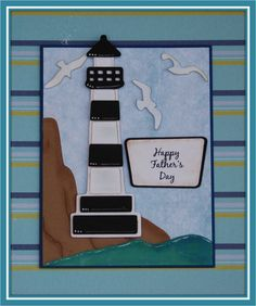 "Cricut ""Life is a Beach"" - lighthouse, seagulls"