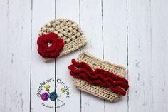 Crochet Newborn baby girl puff stitch hat and by Stephyscrochet, $36.00