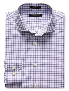 Grant-Fit Windowpane 120s Supima Cotton Shirt