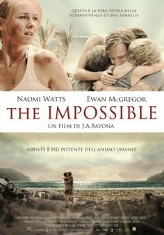 """""""The Impossible"""" I just finished watching it I can't tell you how much I cried! It was outstanding to say the least."""
