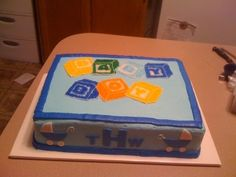 Baby Boy Baby Shower Cake By kakkie on CakeCentral.com