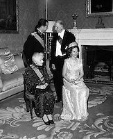Belgian Royal Visit - King Baudouin and Queen Fabiola at a State Dinner at Áras an Uachtarain..14.05.1968