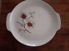 Serving Platter with Pinecone Motif by CottageWelcome on Etsy