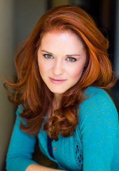 Sarah Drew... don't know if I can pull off red, but I love her hair! Possible choice. But love love love the style and cut!