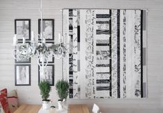 """My quilt """"Black & White"""" on the wall in my studio http://meinequiltsundich.blogspot.com"""
