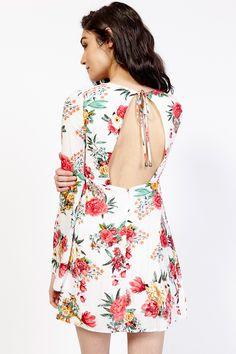 Floral Plunging V-Neck Dress