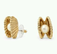 oh my gosh.  pearl and clam shell earrings.