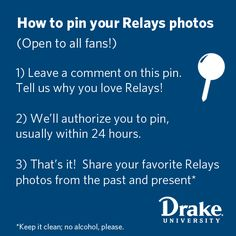 *Pin your Drake Relays pics! Leave a comment on the original pin. @Drake University