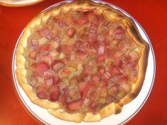 tarte compote de pommes/rhubarbe en morceaux