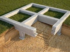 A pile foundation, its functions, use and construction. This foundation type is the perfect solution for building a house on soft grounds, for example, loam and clay soils. Shed Building Plans, Brick Building, Shed Plans, Building A House, Architecture Foundation, Building Foundation, Slab Foundation, Civil Construction, Steel Frame Construction
