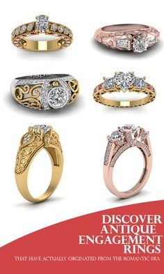 Discover our entire range of Antique Engagement Rings that have originated from the romantic era