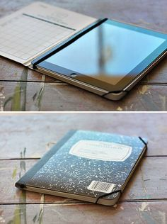 DIY - How to Make an iPad Case from a Notebook. Easy.