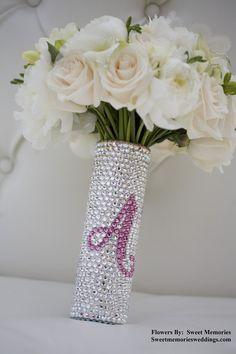 Bouquet Handle Holder Swarovski Crystal from panachebride on