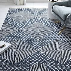 Traced Diamond Kilim Rug #westelm