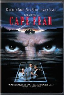 Cape Fear.Robert Deniro's character is one the the most scariest villians in cinema history.I was terrified for days when I first saw it.  I was 14-years old and I couldn't handle it, lol.