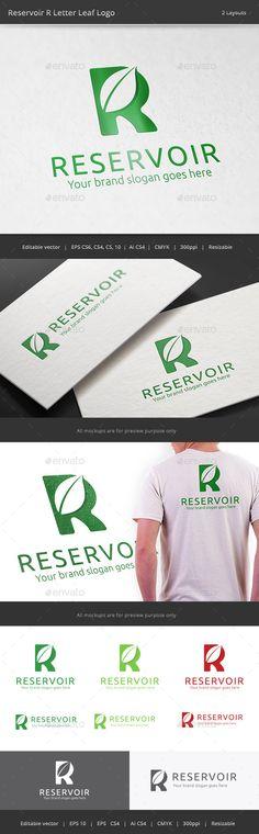 Reservoir R Letter Leaf Logo