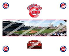 Chicago Cubs Edible Cake Topper Frosting 1/4 Sheet Image #4