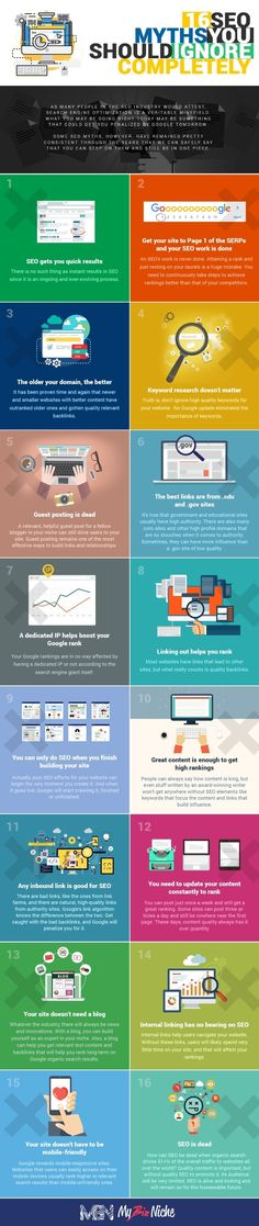 SEO myths countered with facts: infographic