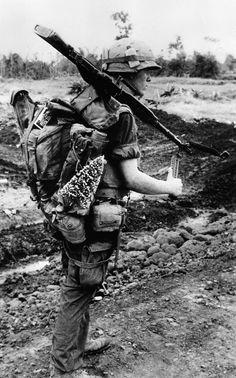 M60 and Christmas tree. Vietnam War