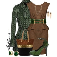 Green Allegri Coat 2, created by lv2create on Polyvore