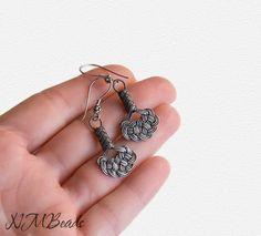 Fine Silver Celtic Knot Dangle Earrings by NMBeadsJewelry on Etsy